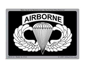 "Eagle Emblems 3"" x 4"" U.S. Army ""Airborne"" Parachute Logo Sticker"