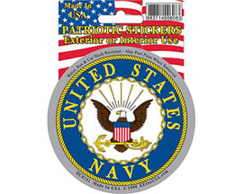 "Eagle Emblems 3-1/4"" U.S. Navy Logo Sticker"