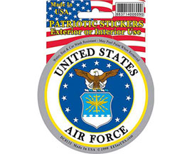 "Eagle Emblems 3-1/4"" U.S. Air Force Emblem Sticker"