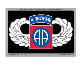 "Eagle Emblems 3"" x 4"" U.S. Army Airborne Sticker"
