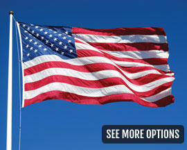 Flag Zone Polyester U.S.A. Flag - Choose your Size