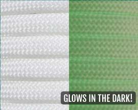 White Glow-in-the-Dark 550 Paracord - 100 Feet