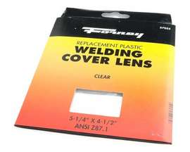 "Forney® Clear Plastic Welding Lens - 4.5"" x 5.25"""