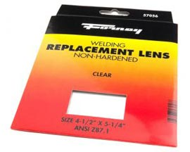 "Forney® Clear Glass Welding Lens - 4.5"" x 5.25"""