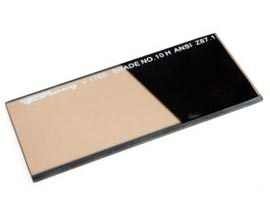 "Forney® Gold Coated #10 Replacement Welding Lens - 2"" x 4.25"""