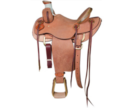 Sulphur River Saddlery Will James Roughout Northern Ranch Saddle - 15in