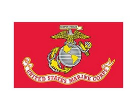 Eagle Emblems US Marine Corps Flag - 3ft x 5ft