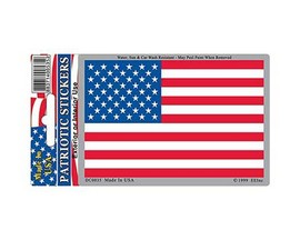 Eagle Emblems USA Flag Sticker - 3in x 4in