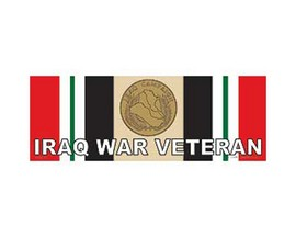 Eagle Emblems Iraq War Veteran Sticker