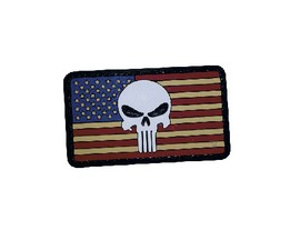 5ive Star Gear® Vintage Flag Punisher Morale Patch