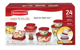 Rubbermaid Assorted Food Storage Container Set - 24 Piece
