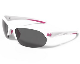 Under Armour® Marbella Ladies Sunglasses - Shiny White & Pink Shock/Gray Multiflection