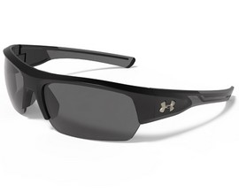 Under Armour® Big Shot Sunglasses - Satin Black & Charcoal/Gray Polarized