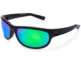 Under Armour® Capture Sunglasses - Satin Black/Copper Green Multiflection