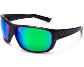 Under Armour® Launch Sunglasses - Satin Black/Copper Green Multiflection