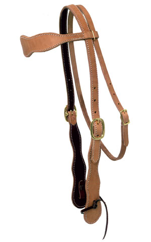 "3/4"" Scalloped Buckaroo Headstall"