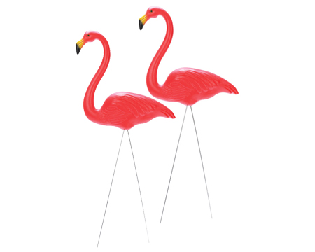 Union Products Plastic Pink Flamingo 2 Pack