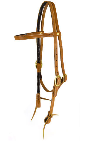 "5/8"" Harness and Brass Headstall"