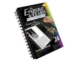 Royal & Langnickel Engrave & Learn Fun Travel Book - Famous Places of the World