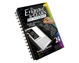 Royal & Langnickel Engrave & Learn Fun Travel Book - North American Wildlife
