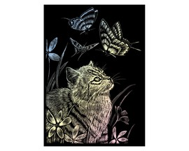 Royal & Langnickel Mini Holographic Engraving Kit - Kitten & Butterfly