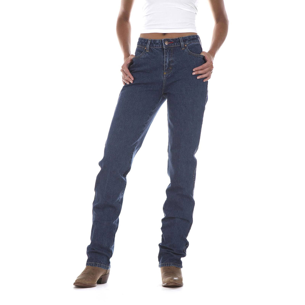 Get your Wrangler Women's Premium Patch Mae Mid Rise Jeans