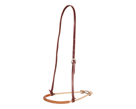 "Oxbow 1/4"" Single Rope Leather Covered Noseband"