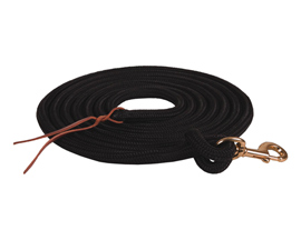 Mustang Manufacturing Black Poly Lead with Bolt Snap - 15'