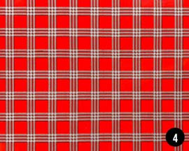 Window Pane Plaid Wrapping Paper - Red/Gray