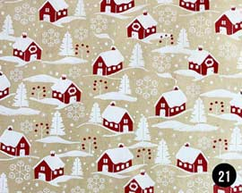 Christmas House Wrapping Paper