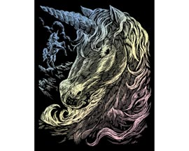 Royal & Langnickel Engraving Art™ Holographic Foil Unicorns