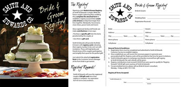 Sample Bridal Registry Card